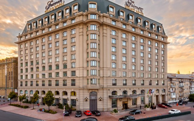 Гостиница Fairmont Grand Hotel Kyiv Украина, Киев - - забронировать гостиницу Fairmont Grand Hotel Kyiv, цены и фото номеров вид на фасад