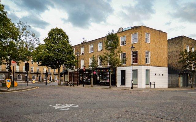 Апартаменты Chadwell Street Serviced Apartments Лондон вид на фасад