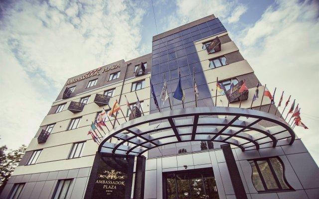 Отель Амбассадор Плаза Киев вид на фасад