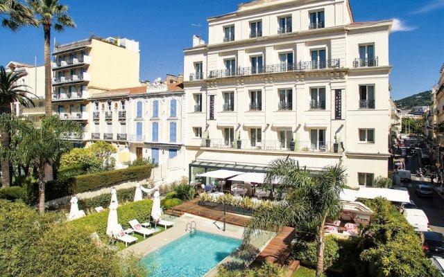 Отель Hôtel Le Canberra - Hôtels Ocre et Azur Франция, Канны - 2 отзыва об отеле, цены и фото номеров - забронировать отель Hôtel Le Canberra - Hôtels Ocre et Azur онлайн вид на фасад