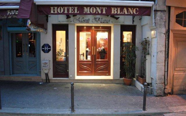 Hotel Du Mont Blanc Париж вид на фасад