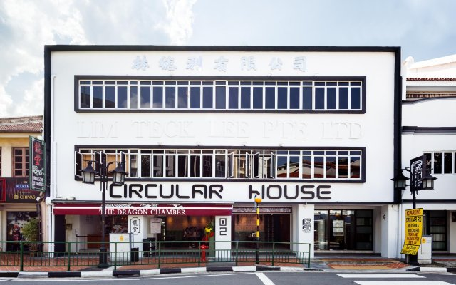 Circular House Capsule Hotel Сингапур вид на фасад