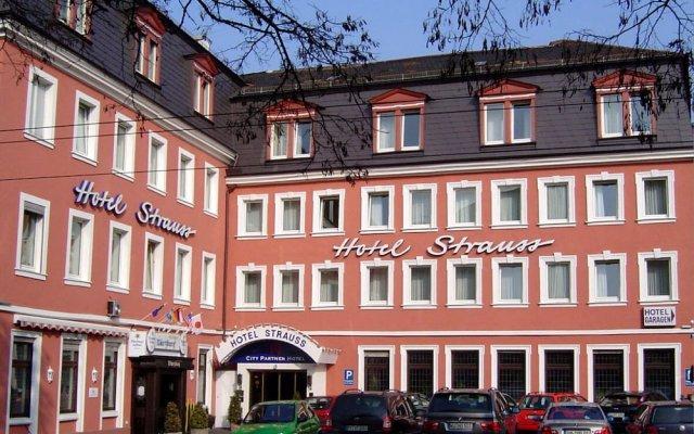 Отель City Partner Hotel Strauss Германия, Вюрцбург - отзывы, цены и фото номеров - забронировать отель City Partner Hotel Strauss онлайн вид на фасад