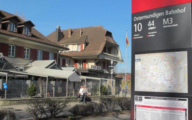 Отель Baeren Ostermundigen Швейцария, Остермундиген - отзывы, цены и фото номеров - забронировать отель Baeren Ostermundigen онлайн вид на фасад