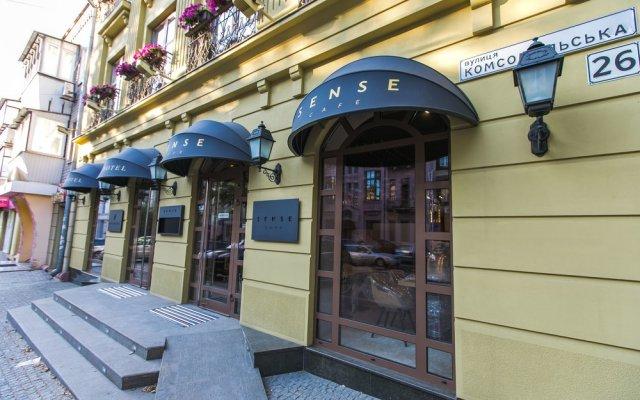 Гостиница Bon Hotel Украина, Днепр - отзывы, цены и фото номеров - забронировать гостиницу Bon Hotel онлайн вид на фасад