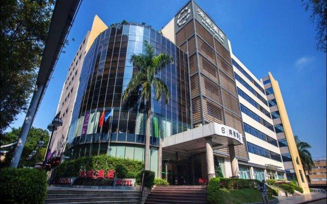 Отель Shenzhen Hongbo Hotel Китай, Шэньчжэнь - отзывы, цены и фото номеров - забронировать отель Shenzhen Hongbo Hotel онлайн вид на фасад
