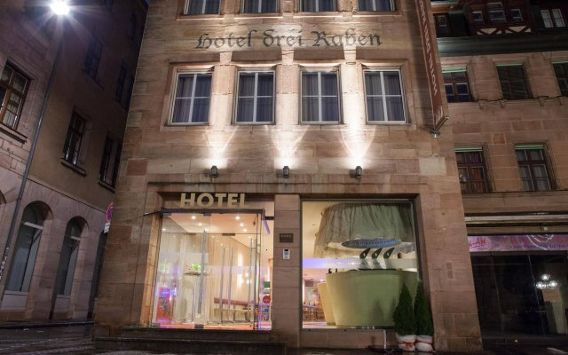 Отель Drei Raben Германия, Нюрнберг - отзывы, цены и фото номеров - забронировать отель Drei Raben онлайн вид на фасад
