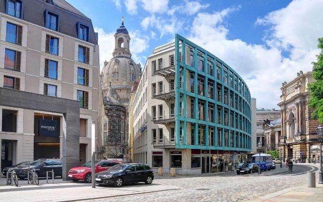 Отель INNSIDE by Meliá Dresden Германия, Дрезден - 2 отзыва об отеле, цены и фото номеров - забронировать отель INNSIDE by Meliá Dresden онлайн вид на фасад