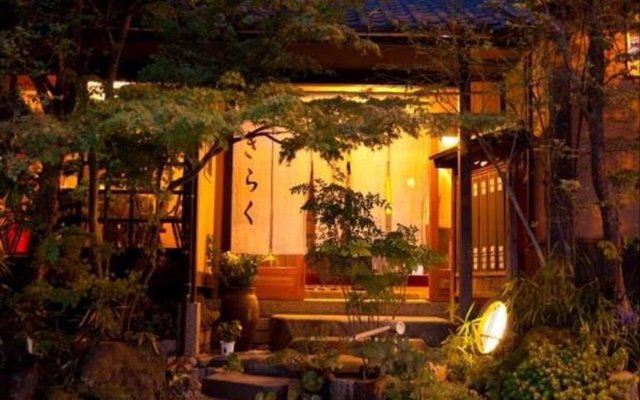 Отель Ryokan Kiraku Беппу вид на фасад