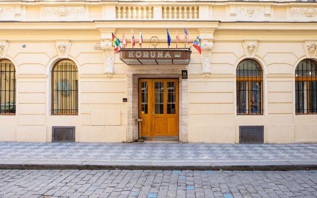 Отель Koruna Чехия, Прага - - забронировать отель Koruna, цены и фото номеров вид на фасад