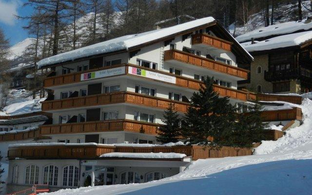 Отель Artist-Apartments & Hotel Garni Швейцария, Церматт - отзывы, цены и фото номеров - забронировать отель Artist-Apartments & Hotel Garni онлайн вид на фасад