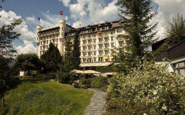 Отель Gstaad Palace вид на фасад