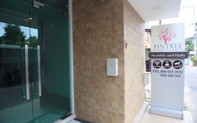 Апартаменты Pintree Service Apartment Pattaya Паттайя вид на фасад