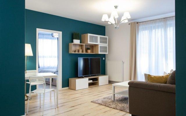 Апартаменты Mokotów Premium Apartment with Terrace комната для гостей