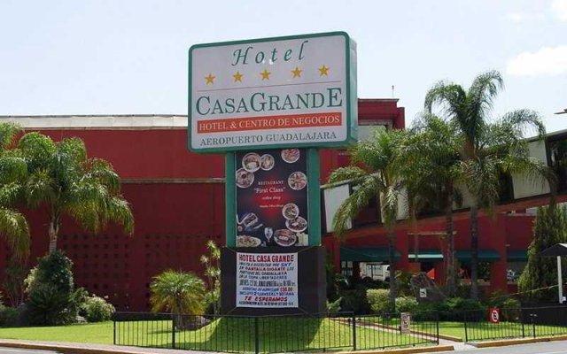 Отель Casa Grande Aeropuerto Hotel & Centro de Negocios Мексика, Гвадалахара - отзывы, цены и фото номеров - забронировать отель Casa Grande Aeropuerto Hotel & Centro de Negocios онлайн вид на фасад