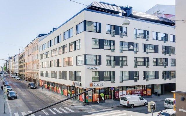Апартаменты Kotimaailma Apartments Albertinkatu 27B вид на фасад
