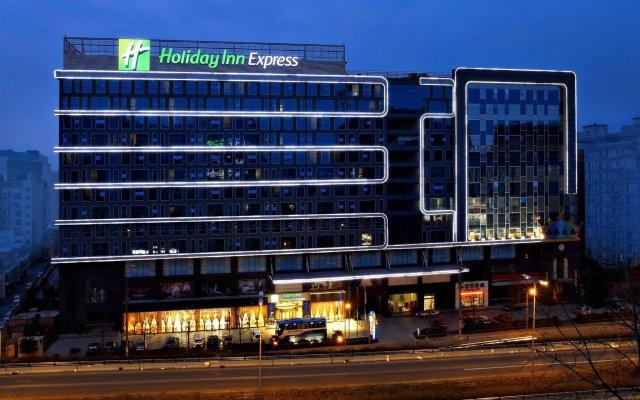 Отель Holiday Inn Express Chengdu Wuhou вид на фасад