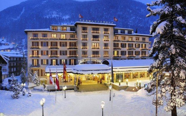 Отель Grand Hotel Zermatterhof Швейцария, Церматт - отзывы, цены и фото номеров - забронировать отель Grand Hotel Zermatterhof онлайн вид на фасад