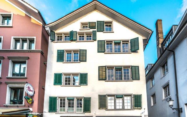 Отель Lake Side Location Bellevue Швейцария, Цюрих - отзывы, цены и фото номеров - забронировать отель Lake Side Location Bellevue онлайн вид на фасад