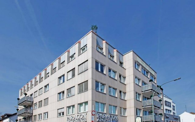 Отель Paragon Apartments Германия, Франкфурт-на-Майне - отзывы, цены и фото номеров - забронировать отель Paragon Apartments онлайн вид на фасад