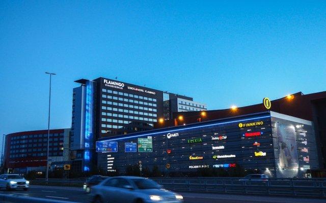 Отель Break Sokos Hotel Flamingo Финляндия, Вантаа - 6 отзывов об отеле, цены и фото номеров - забронировать отель Break Sokos Hotel Flamingo онлайн вид на фасад