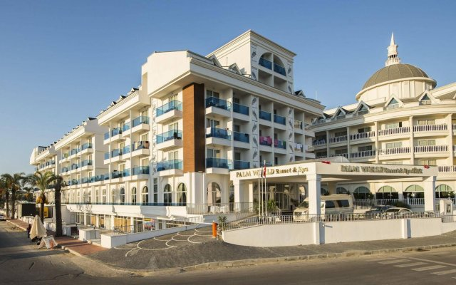 Отель Palm World Resort & Spa Side - All Inclusive Сиде вид на фасад