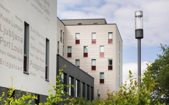 Отель Intercityhotel Berlin-Brandenburg Airport вид на фасад