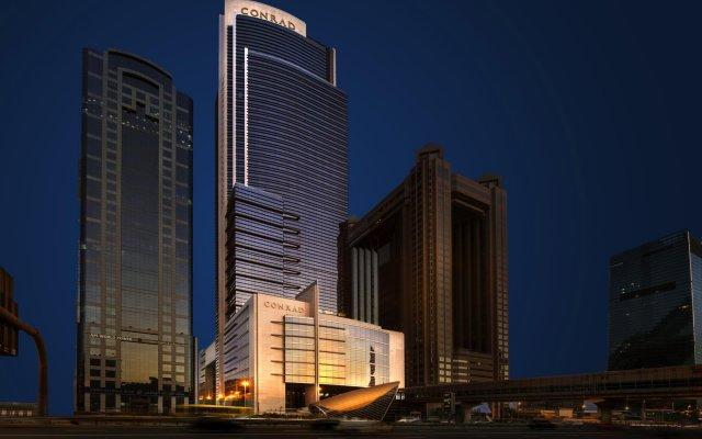 Отель Conrad Dubai ОАЭ, Дубай - 2 отзыва об отеле, цены и фото номеров - забронировать отель Conrad Dubai онлайн вид на фасад