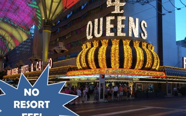 Отель Four Queens Hotel and Casino (No Resort Fee) США, Лас-Вегас - отзывы, цены и фото номеров - забронировать отель Four Queens Hotel and Casino (No Resort Fee) онлайн вид на фасад