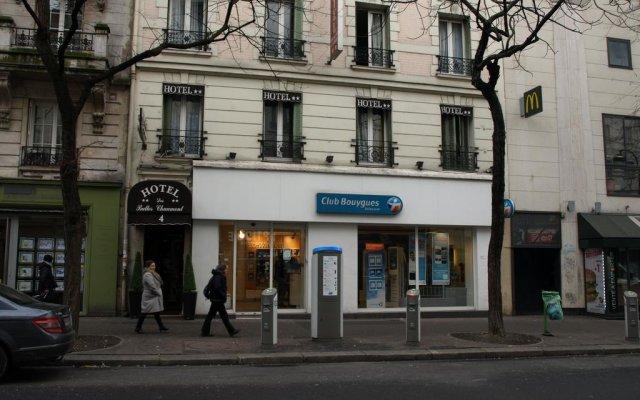 Отель Hôtel des Buttes Chaumont вид на фасад