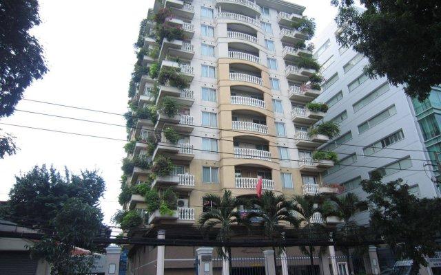 Апартаменты Saigon Court Serviced Apartment Хошимин вид на фасад