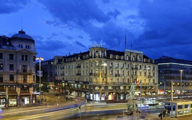 Отель Schweizerhof Zürich вид на фасад