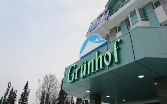 Гостиница Грюнхоф в Шерегеше 1 отзыв об отеле, цены и фото номеров - забронировать гостиницу Грюнхоф онлайн Шерегеш вид на фасад