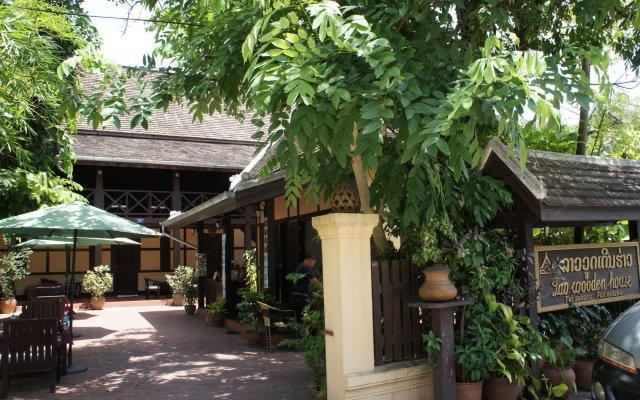 Отель Villa Lao Wooden House вид на фасад