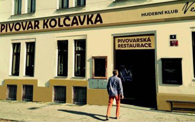 Отель Hotelové pokoje Kolcavka вид на фасад