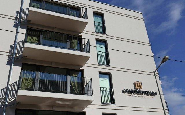 Отель Leipzig Apartmenthaus вид на фасад