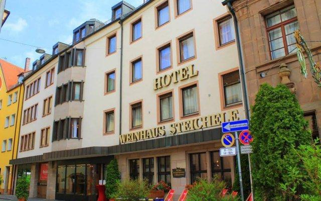 Отель Steichele Hotel & Weinrestaurant Германия, Нюрнберг - отзывы, цены и фото номеров - забронировать отель Steichele Hotel & Weinrestaurant онлайн вид на фасад
