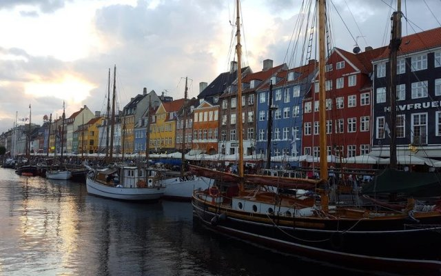 Отель The Little Guesthouse Копенгаген приотельная территория