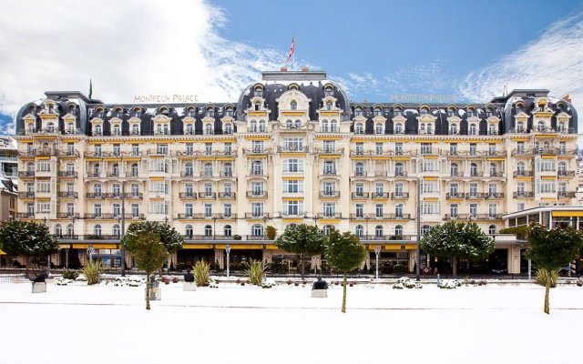 Отель Fairmont Le Montreux Palace вид на фасад