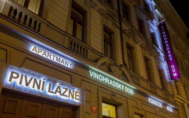 Отель Vinohradsky Dum Прага вид на фасад