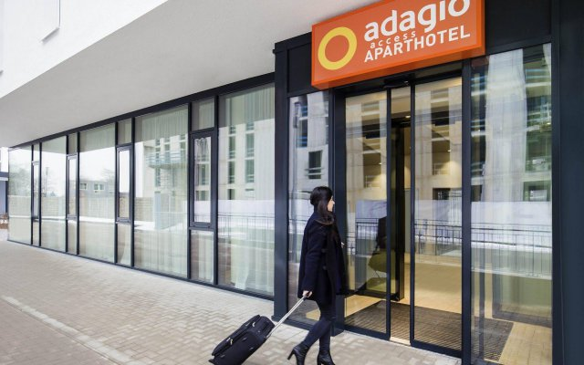 Отель Adagio access München City Olympiapark Мюнхен вид на фасад