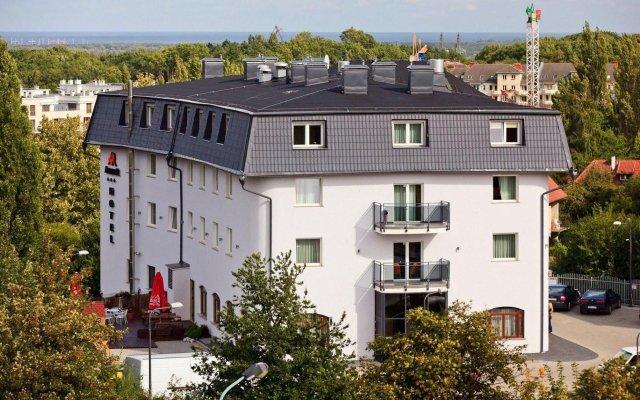 Amber Hotel Гданьск вид на фасад
