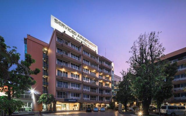 Отель The Tepp Serviced Apartment Таиланд, Бангкок - отзывы, цены и фото номеров - забронировать отель The Tepp Serviced Apartment онлайн вид на фасад