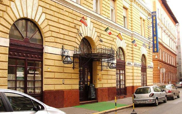 City Hotel Unio Будапешт вид на фасад