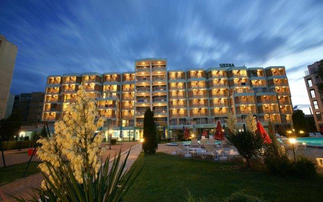 Отель Sirena Солнечный берег вид на фасад