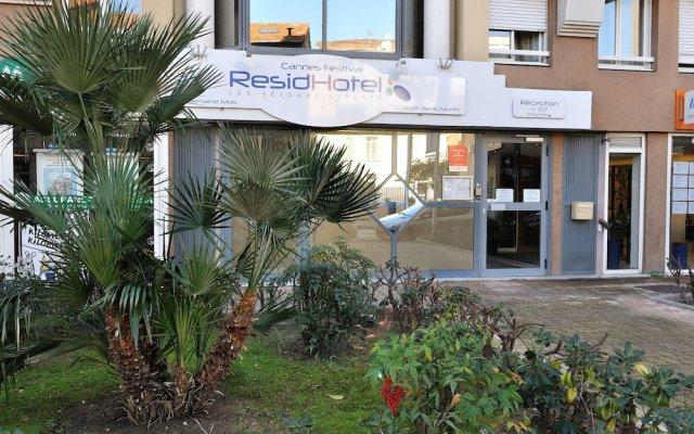 Отель ResidHotel Cannes Festival Франция, Канны - 6 отзывов об отеле, цены и фото номеров - забронировать отель ResidHotel Cannes Festival онлайн вид на фасад