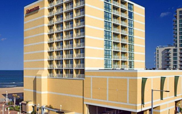 Sheraton Virginia Beach Oceanfront Hotel вид на фасад