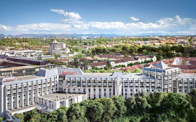 Munich Marriott Hotel вид на фасад