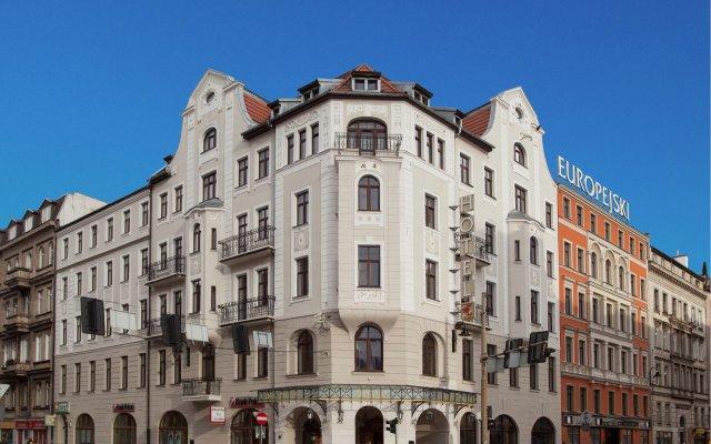 Отель Europejski Польша, Вроцлав - 1 отзыв об отеле, цены и фото номеров - забронировать отель Europejski онлайн вид на фасад