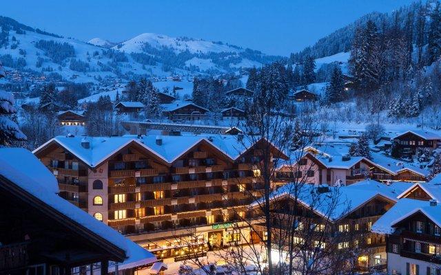 Отель Wander & Gourmet Hotel Bernerhof Швейцария, Гштад - отзывы, цены и фото номеров - забронировать отель Wander & Gourmet Hotel Bernerhof онлайн вид на фасад